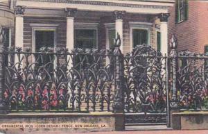 Louisiana New Orleans Ornamental Iron Fence