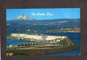 OR The Dalles Dam Columbia River Oregon Mt Mount Hood WA Washington Postcard