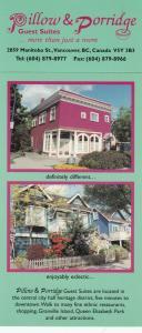 VANCOUVER , B.C. , Canada , 50-60s ; Pillow & Porridge Guest Suites