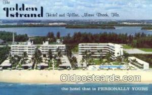 Golden Strand Hotel & Villas, Miami Beach, FL, USA Motel Hotel Postcard Post ...