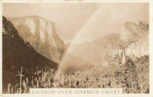 RP: YOSEMITE , California , 20-30s : Rainbow over Yosemite Falls