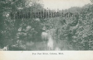 COLOMA, Michigan, 1900-10s; Paw Paw River