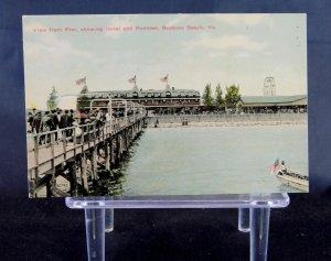 Buckroe Beach, VA - Pier showing the Hotel and Pavilion - Virginia