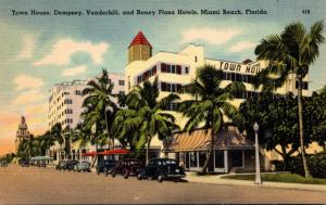 Florida Miami Beach Town House Dempsey Vanderbilt and Roney Plaza Hotels