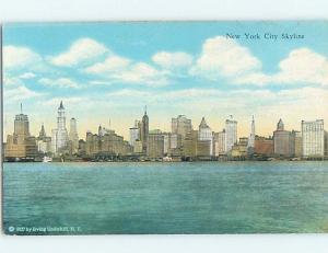 Unused 1927 SKYLINE VIEW New York City NY hp4156