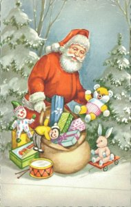 Merry Christmas Santa Claus And Presents 04.75