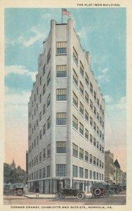 NORFOLK, Virginia, 1900-10s ; The Flat Iron Building