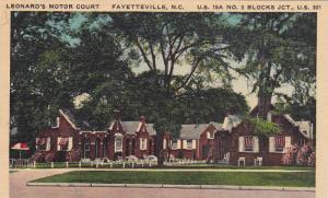 Exterior,  Leonard's Motor Court,  Fayetteville,  North Carolina,   PU_1951