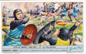 Liebig Trade Card S1810 Life Of Dante No 2 La vita politica