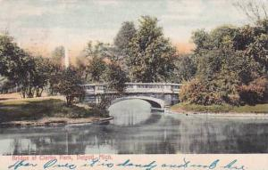 Michigan Detroit Bridge At Clarks Park 1909