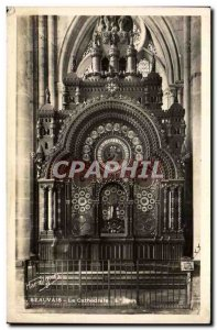 Old Postcard Beauvais Cathedral