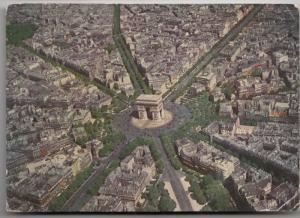 PARIS, La Place de l'Etoile, 1959 used Postcard