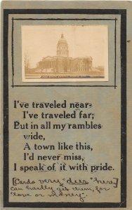 G23/ Topeka Kansas RPPC Postcard 1912 State Capitol Building 4