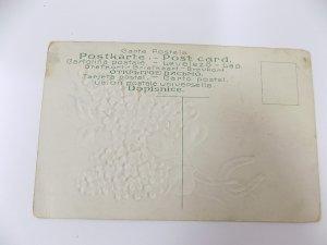 Antique German Made Best Wishes Postcard