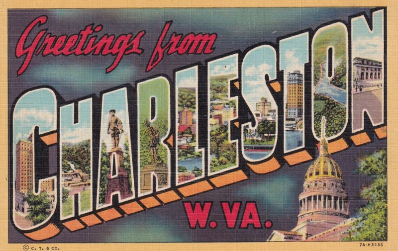 LARGE LETTER, CHARLESTON, West Virginia, 1930-1940's