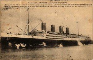 CPA AK Le Havre- Le Transatlantique France, SHIPS (762629)