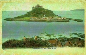 Penzance St Michael's Mount General view Postcard