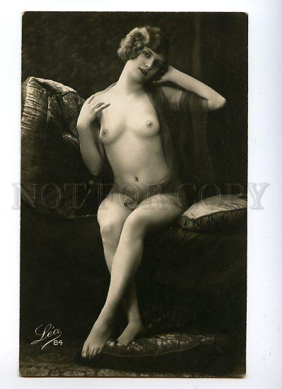 128980 NUDE Woman BELLE Vintage Real PHOTO LEO #84 PC