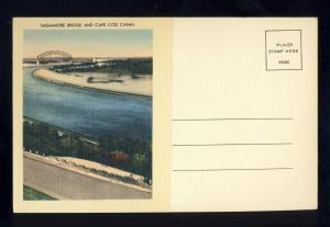 Divided Cape Cod, Massachusetts/Mass/MA Postcard, Sagamore Bridge & Canal