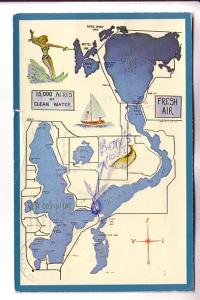 Map of  Iowa Great Lakes, Used 1953