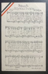 Mint Germany Color Picture Postcard Imperial German Navy WWI Song
