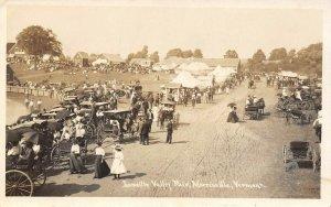 LP44  Morrisville Vermont Vintage Postcard RPPC Lamoille Valley Fair