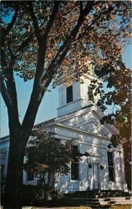 Wayne Michigan~First Congregational Church~1950s Postcard