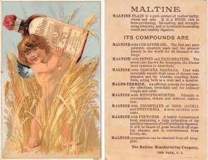 Victorian Trade Card Approx size inches = 3.5 x 5.25 Pre 1900 light wear righ...