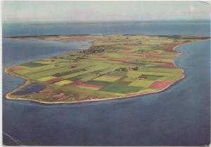 Endelave, Denmark, aerial view, used Postcard