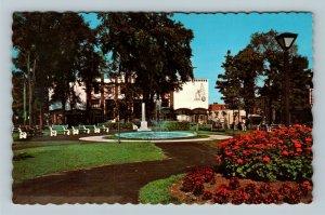 Drummondville QC, Le Parc St-Frederic, Chrome Quebec Canada Postcard