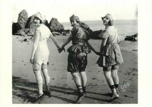 Swimsuits in 1918 Bathing Beauty Fashion in Los Angeles Modern Postcard