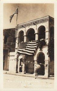 RP, PORT-AU-PRINCE, Haiti, 1910s ; American Legation Building , U.S. Flags