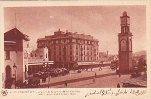 Morocco Casablanca La place de France et l'Hotel Excelsior