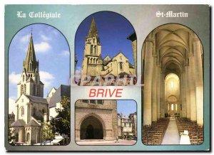 Modern Postcard Brive Correze La collegiate St Martin