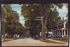 P1375 1916 used postcard main street waterbury vermont