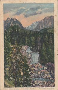 Tatra mountains Slovakia waterfall Kohlbacher Wasserfall 1933 postcard
