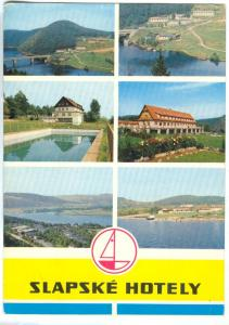 Czech Republic, SLAPSKE HOTELY 1969 used Postcard