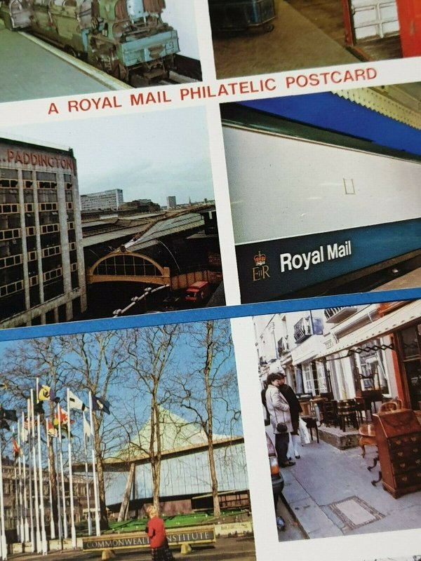 Postcards, 2 x 1980s Royal Mail Philatelic and Post Office West London Cards BX0