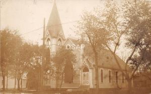 C81/ Anoka Minnesota Mn Real Photo RPPC Postcard 1916 Church Building