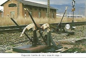 POSTAL 55164: Cambio vias de la estacion de Puigcerda. 1993