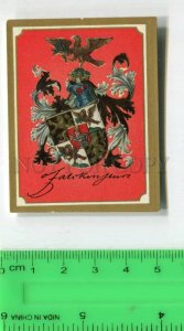 428124 coats of arms Vintage Friedrich Hindenburg Tobacco Card w/ ADVERTISING