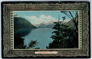 Now  FIJOURDLAND NATIONAL PARK, New Zealand  LAKE MANAPOURI  Border  ca 1910s