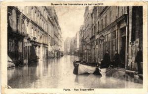 CPA Souvenir des Inondations. PARIS Rue Traversiere (561926)