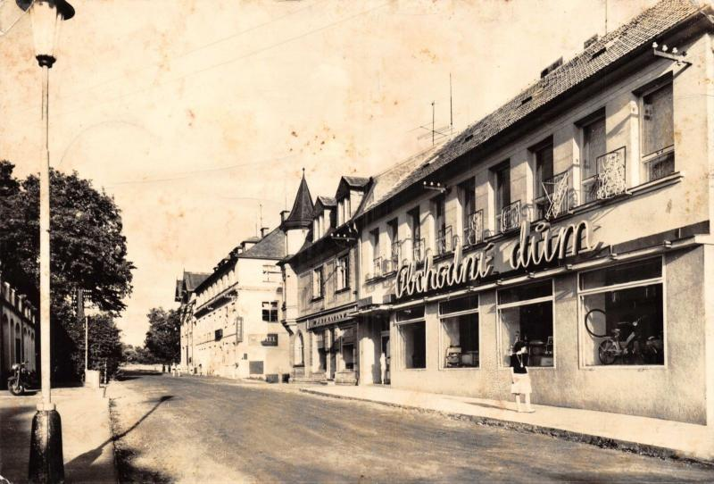 1955 RP Postcard Konstantinovy Lazne Store & Hotel Morning Star Czech Republic