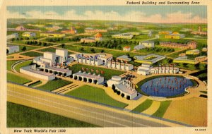 NY - New York World's Fair, 1939. Federal Building & Surrounding Area