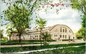 Vtg Postcard 1909 New Gymnasium Northwestern University Evanston Illinois