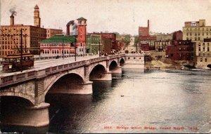 Michigan Grand Rapids Bridge Street Bridge 1910