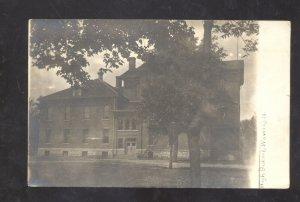 RPPC WAVERLY IOWA HIGH SCHOOL BUILDING VINTAGE REAL PHOTO POSTCARD HOLSTEIN IA.