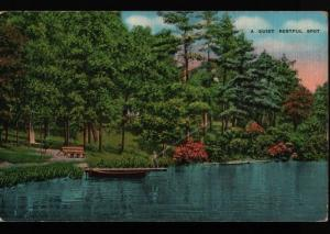 Long Lake Traverse City MI Cuyahoga Falls Ohio Fishing Dock Kropp Postcard B06