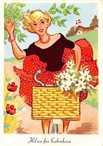Denmark, Danmark Hilsen fra Kobenhav, folder opens to small postcards inside ...